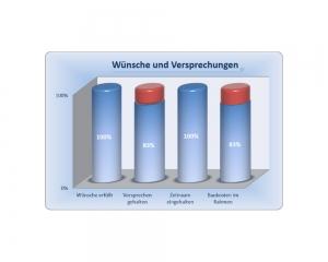 Diagramm - Erfahrung im Hausbau mit der Ökowert Planprojekt GmbH & Co. KG - Auszug 9