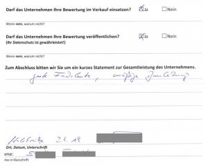 Erfahrungen mit der OSTRAUER Baugesellschaft mbH - Gewerbebau - Auszug 5